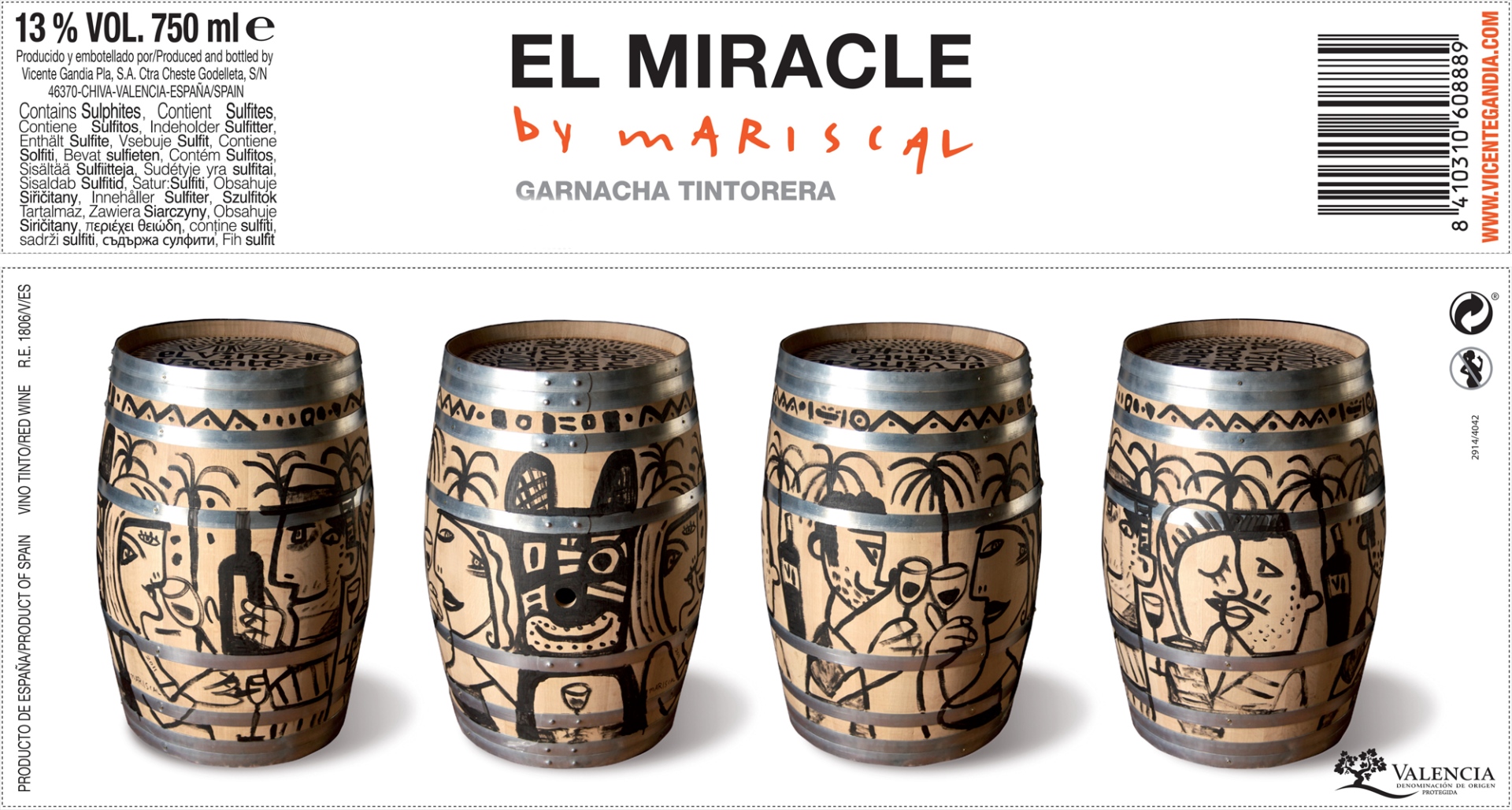 El Miracle by Mariscal, Valencia DO